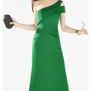 Annely one-shoulder peplum BCBG gown